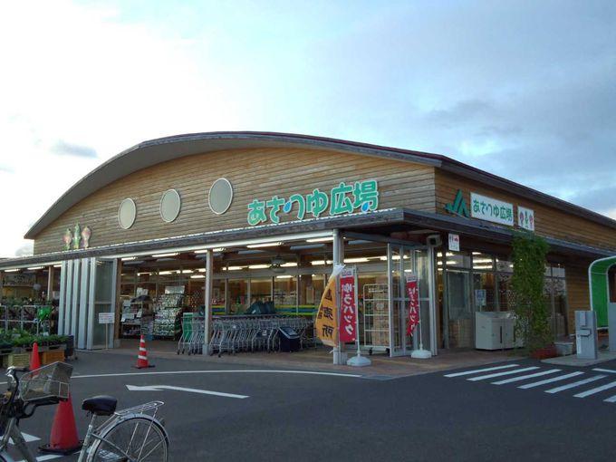 あさつゆ市場にて、ジェラートを味わい、お買い物を楽しみましょう。