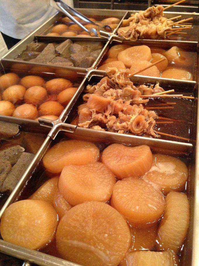 生姜醤油で食べるおでん「姫路おでん」