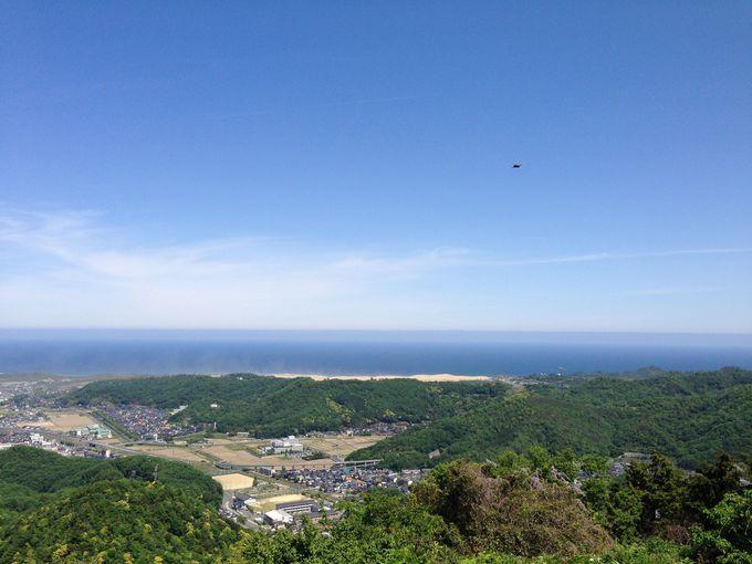 砂丘も大山も見渡せる美しき眺望