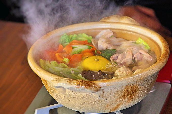 ディナーは、かまくらの中で峰山高原特製鍋