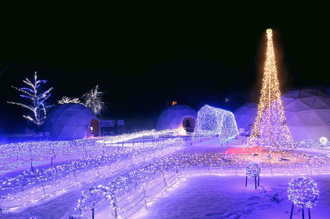 アイスルータウンで雪のかまくら体験を