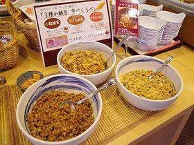 水戸の名物・納豆食べくらべの朝食を!水戸プリンスホテル