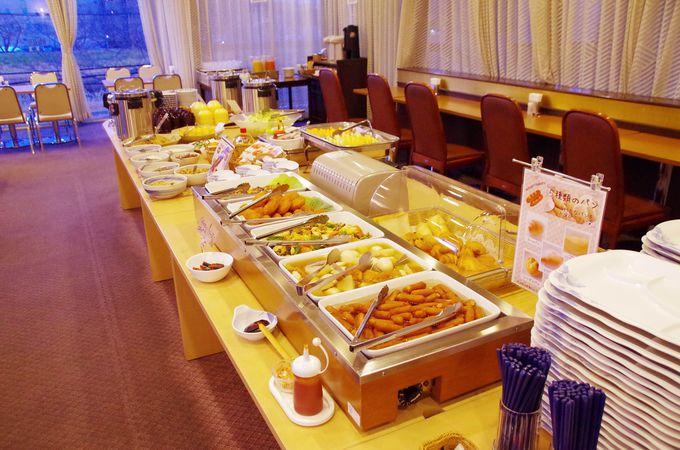 水戸プリンスホテルの朝食は、3種の納豆食べくらべ