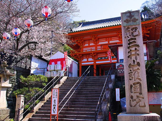 和歌山「紀三井寺」縁結びの階段上って金色の大観音像のもとへ
