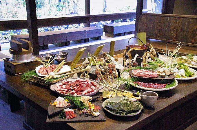 ネスタリゾート神戸ならではの演出、完全予約制の囲炉裏料理「熾火」