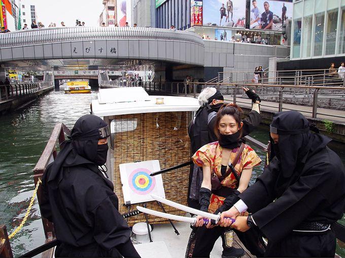 大阪・道頓堀を忍者姿で体験観光!「忍者船 Ninja Cruise」