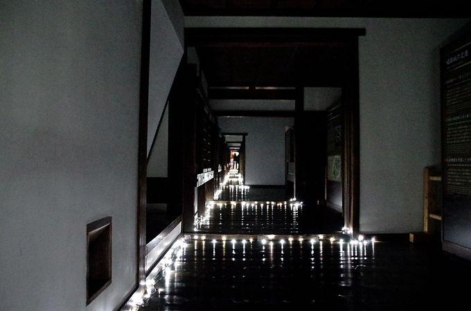 姫路城西の丸がアートな空間に「『姫路城×彩時記』冬−color of the season−」
