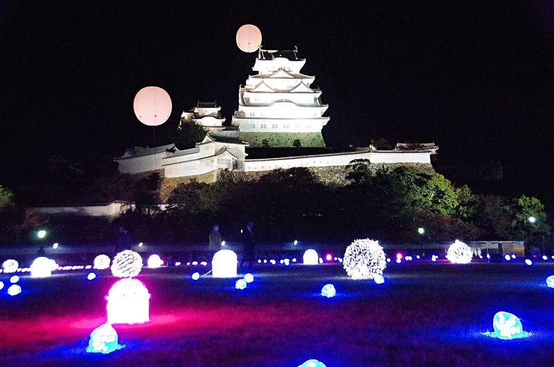 「姫路城×彩時記」秋夜の姫路城を彩る光のアート、夜間初公開エリアも