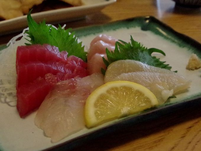 プリプリの刺身に美味しい魚料理
