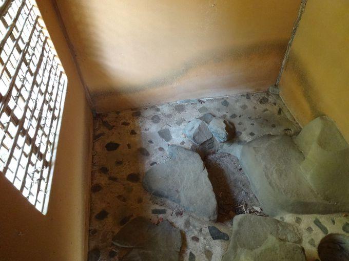 ここはトイレまでみやび。「外腰掛」の雪隠を覗く