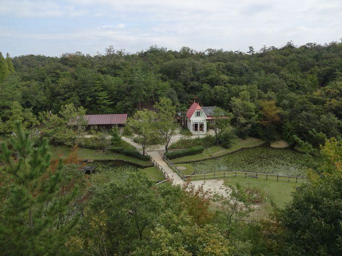 チケットが無くても大丈夫!「サツキとメイの家」を一望できる展望台へ。豊かな緑に包まれたジブリの世界