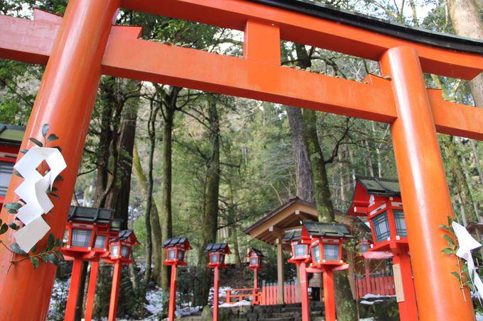 """貴船神社では""""三社詣""""で祈願成就!!"""
