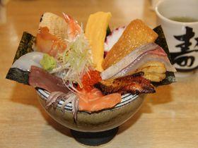 玉造温泉で絶品大盛り海鮮丼!島根でランキング1位の「若竹寿し」|島根県|トラベルjp<たびねす>