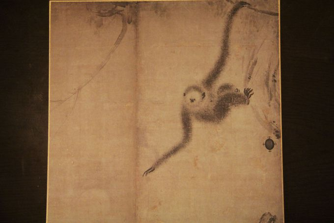 特別拝観の目玉、長谷川等伯の可愛いお猿さん