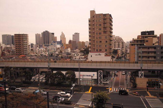 富士塚から品川を望む