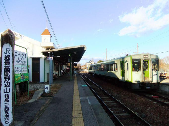 JR線最高駅は長野県南佐久郡南牧村にある小梅線の「野辺山駅」