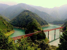 大井川鐵道「奥大井湖上駅」から吊橋日本一を渡り接岨峡温泉を目指そう!|静岡県|トラベルjp<たびねす>