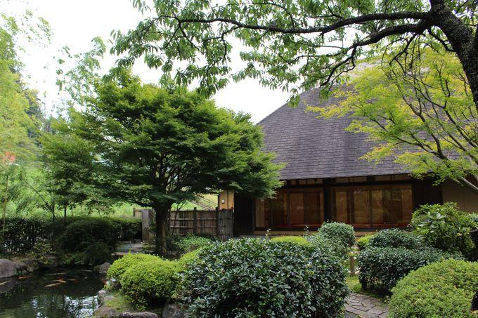 道の駅に美しい日本庭園が併設