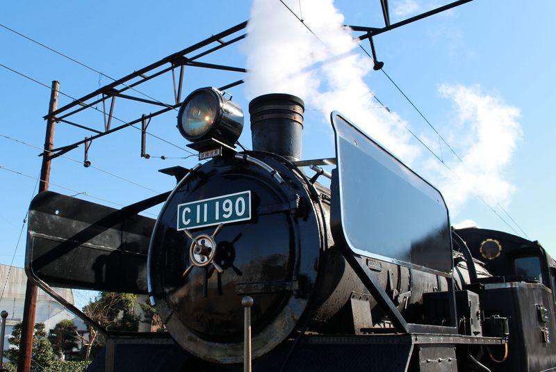 期間限定で大井川鐵道のSLが門デフに!五郎丸ポーズのジャンボ干支にも会える!