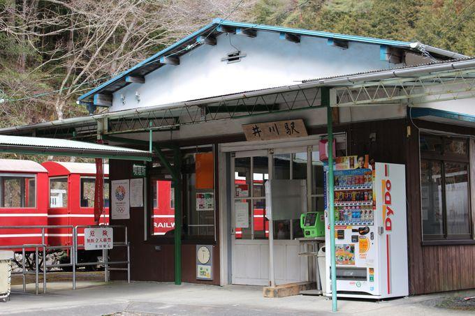 閑蔵駅から井川駅までも見所満載