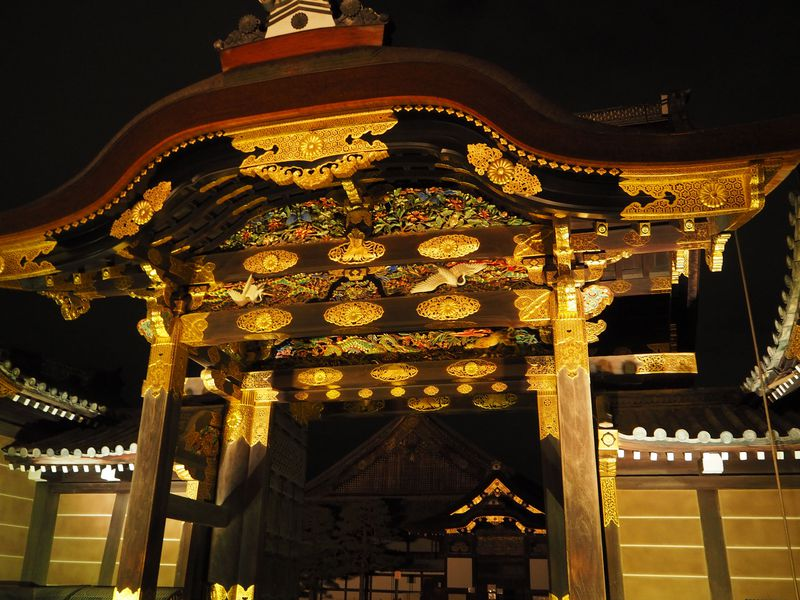 京都観光の締めにもお勧め!世界遺産「二条城」桜ライトアップ