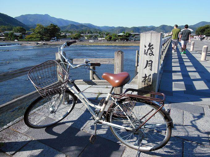嵐山へはバス、嵐山での移動は自転車