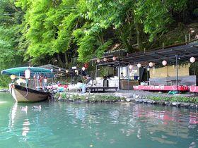 京都・嵐山の超穴場!ボートで渡る琴ヶ瀬茶屋で味わう楽園気分!