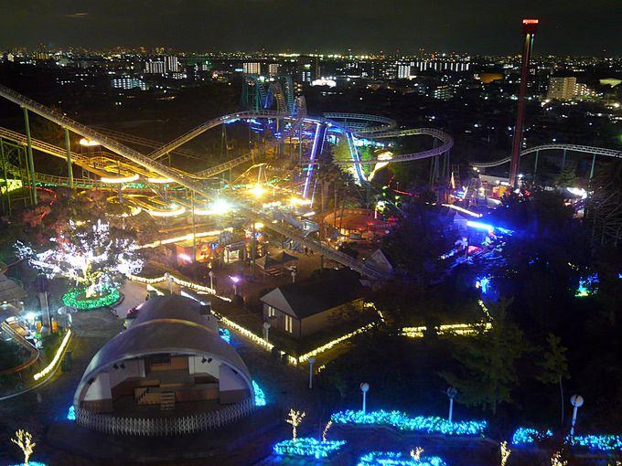 大阪・ひらかたパーク。観覧車から見る光の遊園地イルミネーション!