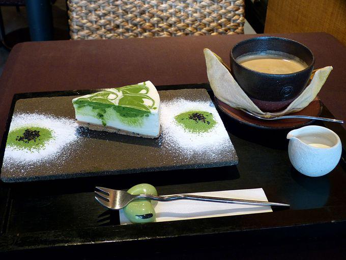 天の抹茶レアチーズケーキ