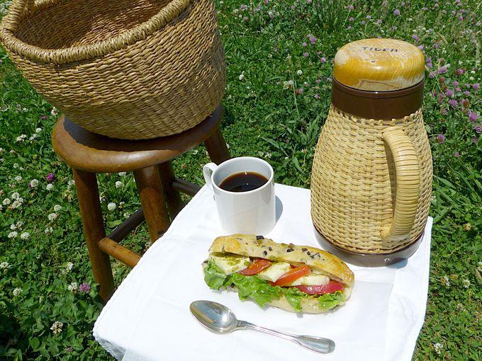 ピクニックセットの基本のコーヒーとラスクとオプション