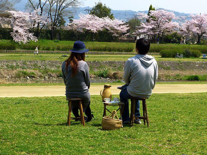 鴨川でピクニック!