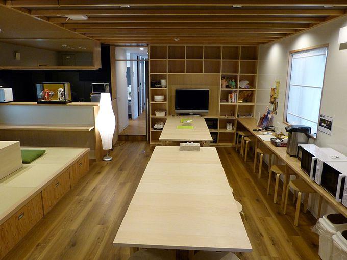 豊富な部屋タイプと談話室