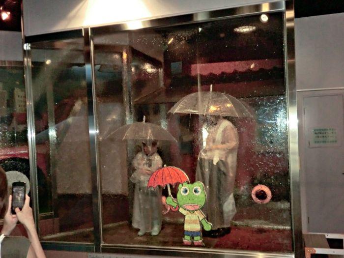 イベントや豪雨体験