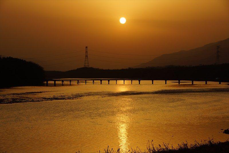 吉野川の夕景も楽しみ