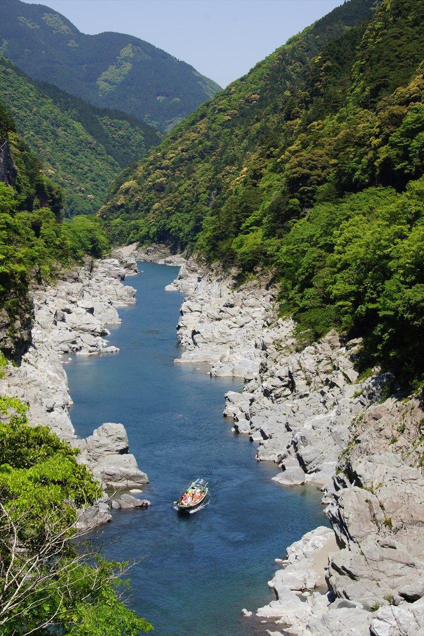 国天然記念物に指定された大歩危峡