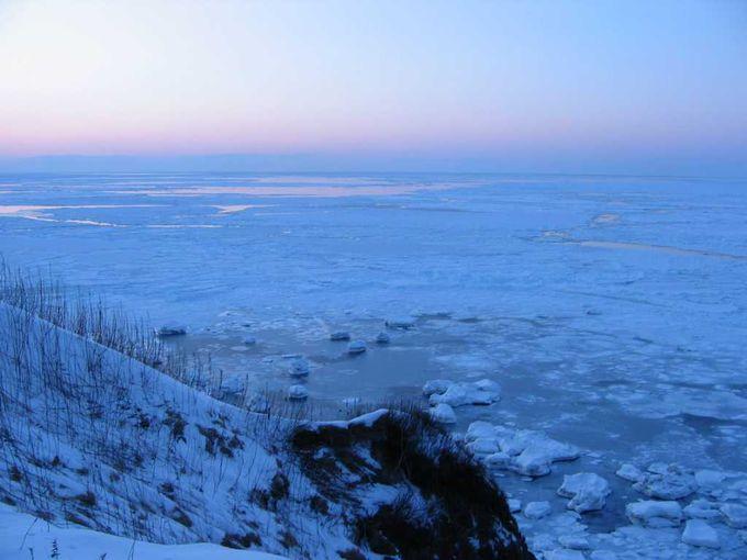 遥か彼方より流れ着く流氷