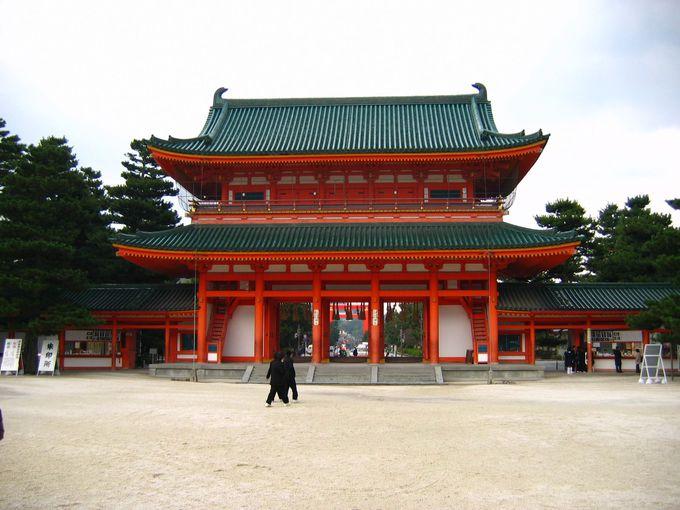 東を守護する八坂神社、中心に位置する平安神宮