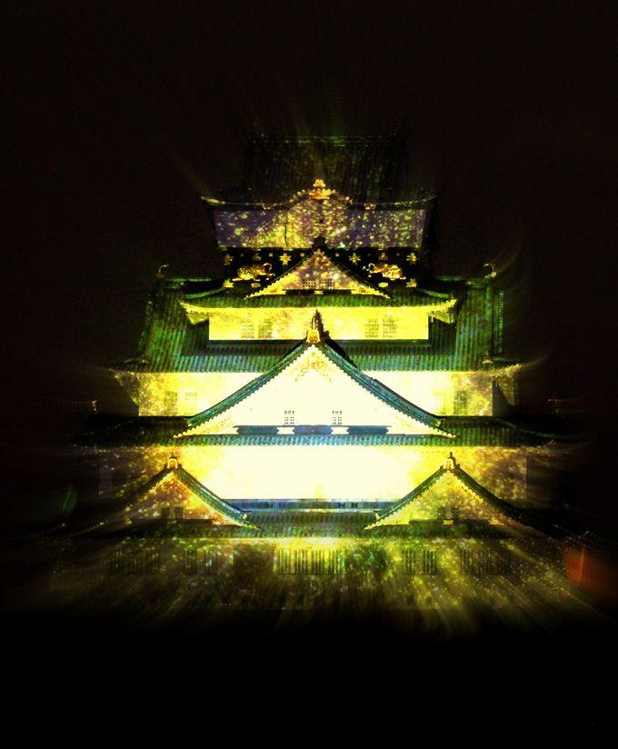 大阪城3Dマッピングを鑑賞!