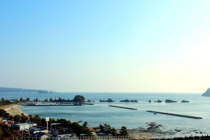 部屋から名勝・橋杭岩が見渡せる絶景が!