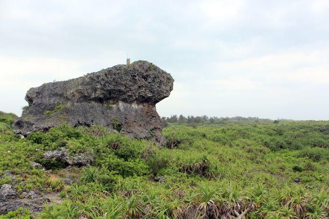 最後に残った「帯岩」