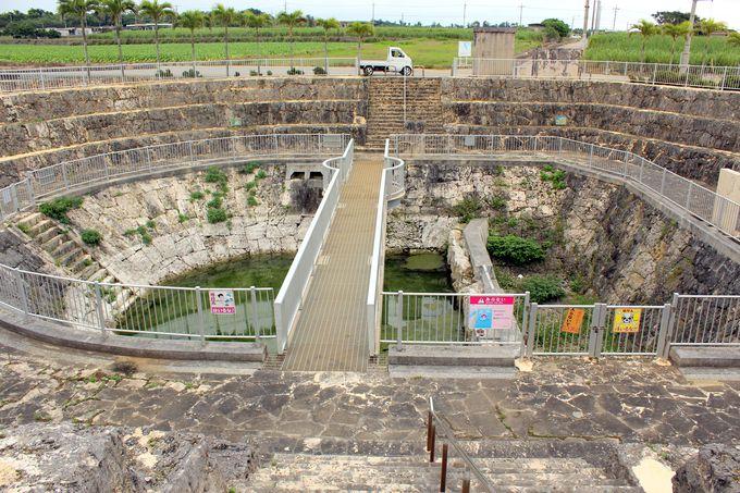 地上に出た地下ダムの一部!