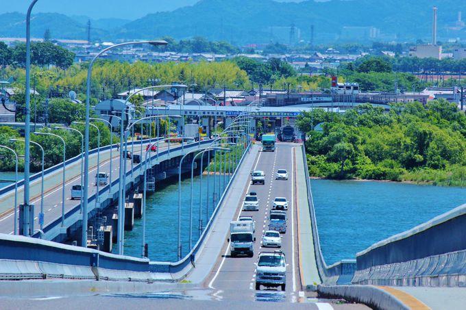 眺望も見事な「琵琶湖大橋」は音も出る!?