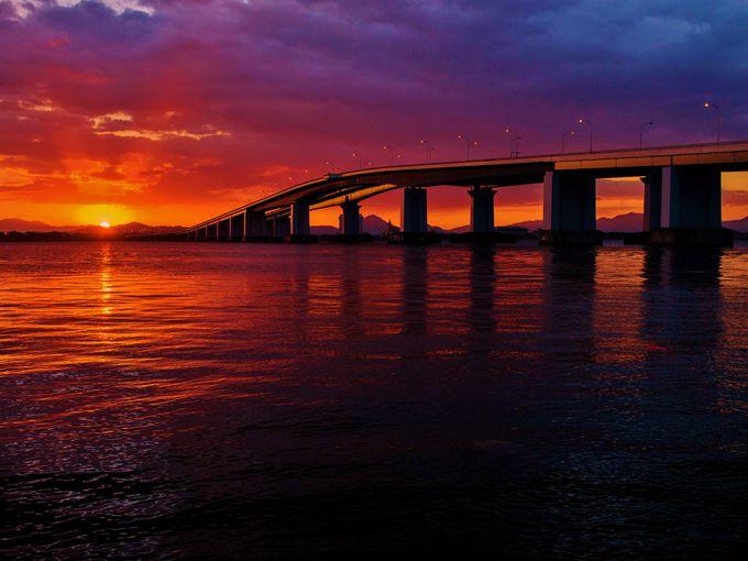 フォトジェニックな「琵琶湖大橋」