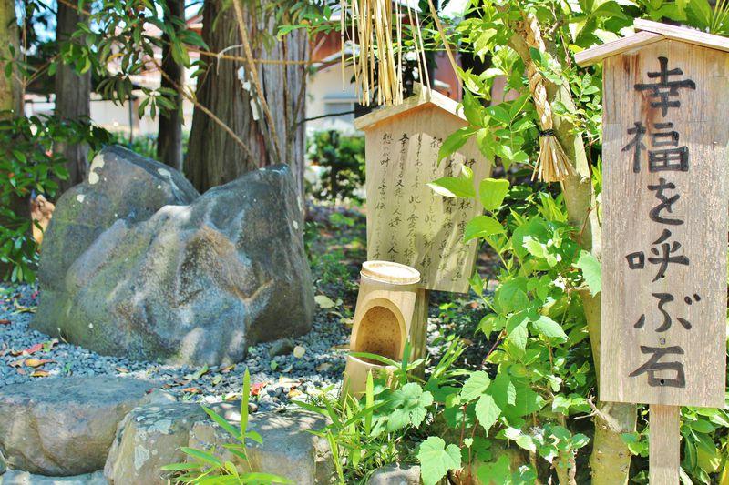 ハートにタッチで縁結び!滋賀・伊豆神社の「幸福を呼ぶ石」