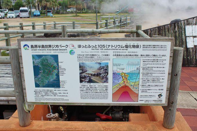 名湯・小浜温泉にある日本一の足湯