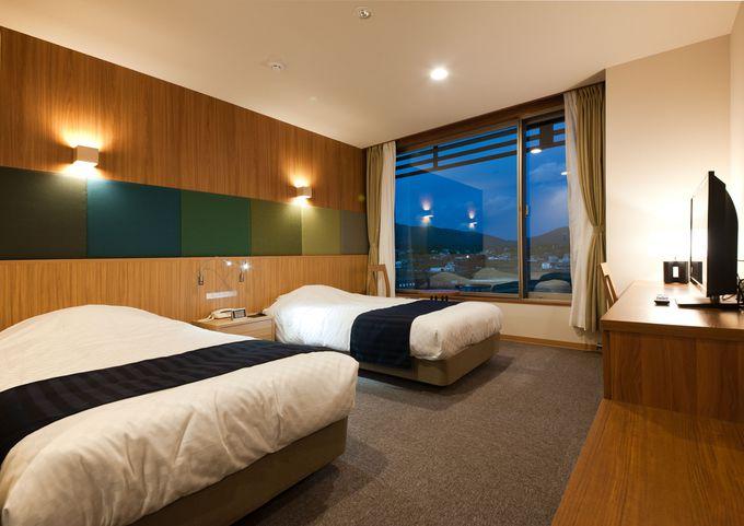 「キャピタルホテル1000」は全室ゆとりのツインルーム