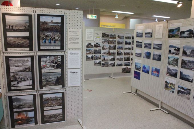 震災以降は地震・津波関連の展示がメインに