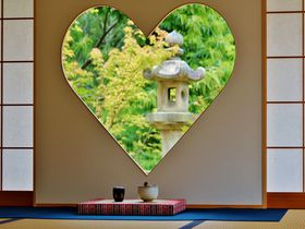 京都「正寿院」の幸せを呼ぶハートの窓に女子が殺到中!