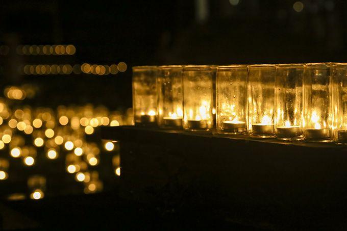 約3万個のキャンドルが金蔵の集落全体を灯す万燈会!音楽演奏などの催しも見どころ!