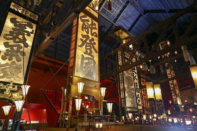 能登のキリコの象徴「能登國」。高さ約15mのスケール感!
